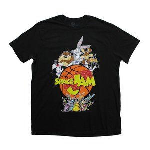 Space Jam Looney Tunes Galaxy T Shirt sz L